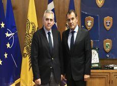 """Συνάντηση Μ. Χαρακόπουλου με Ν. Παναγιωτόπουλο: """"Ευήκοον ους στην παραχώρηση στρατοπέδων στον δήμο"""""""