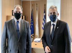 Μ. Χαρακόπουλος με πρόεδρο ΟΠΕΚΕΠΕ: Ολοκληρώνονται οι πληρωμές για την μακροχρόνια παύση γαιών