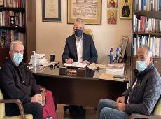 Μ. Χαρακόπουλος με εκπροσώπους παραγωγών: Στόχος η εύρυθμη λειτουργία των λαϊκών αγορών στην επαρχία